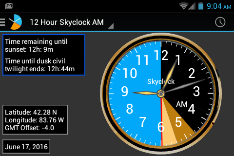 Skyclock screenshot 1