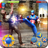 Superhero Street Fighting Kung Fu Fighter Icon