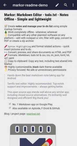 Markor: Markdown Editor - todo.txt - Notes Offline screenshot 9