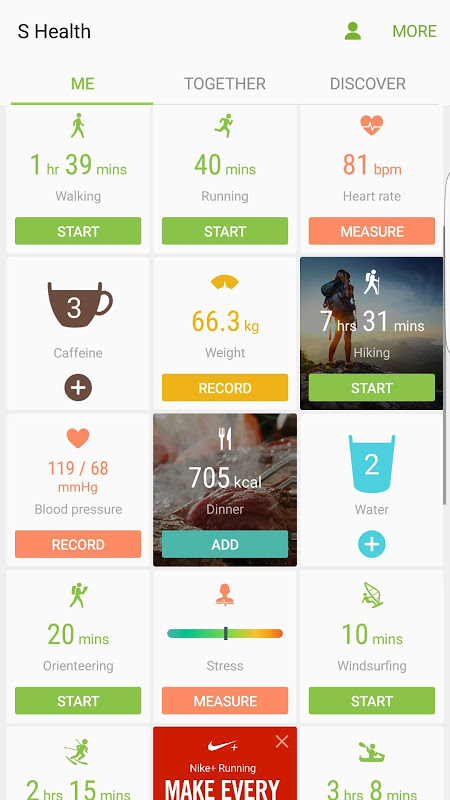S Health screenshot 2