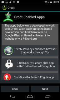 Orbot: Tor on Android screenshot 1