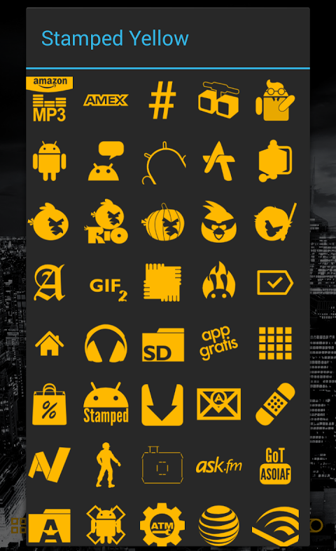 Stamped Yellow Icon Pack screenshot 2