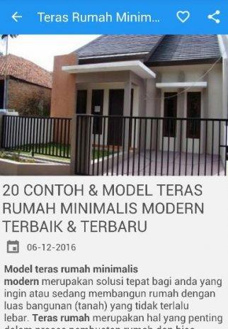 Desain Rumah Minimalis Lebar 4 Meter  oao u u u apk u o u o o u u o o o oau u o desain teras rumah minimalis1 2 0
