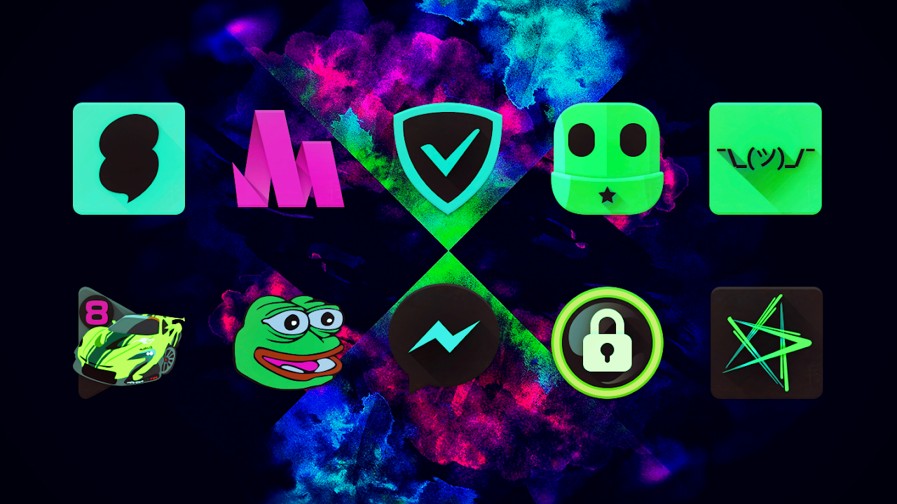 Black Light Icon Pack screenshot 1
