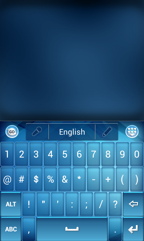 Blue Light Theme for Keyboard screenshot 2
