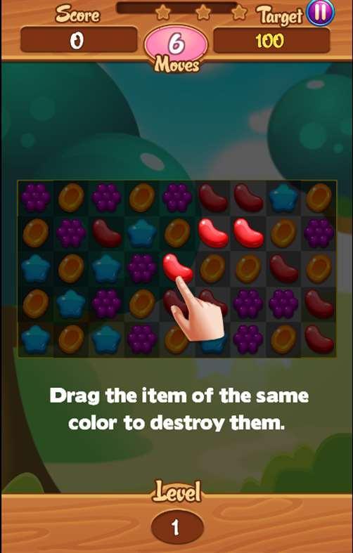 Jelly Garden Crush Saga screenshot 2