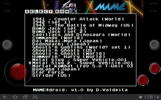 MAME4droid (0.37b5) Screen