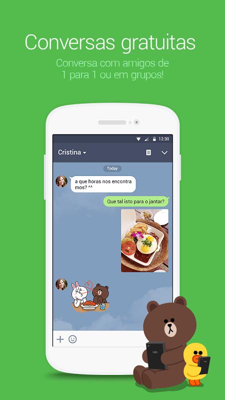 LINE: Call e Conversa de graça screenshot 1
