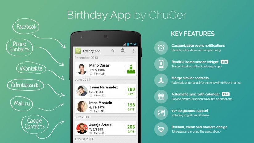 Birthday App Screenshot 3