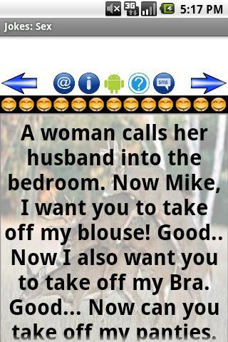 Sex jokes wife husband