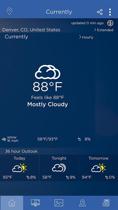 WeatherNation screenshot 1