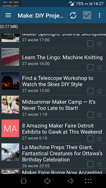 Handy News Reader screenshot 1