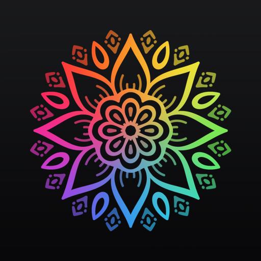 Livro para colorir: Desenhar mandalas e unicórnios