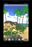 3D Tropical Island wallpaper Screenshot