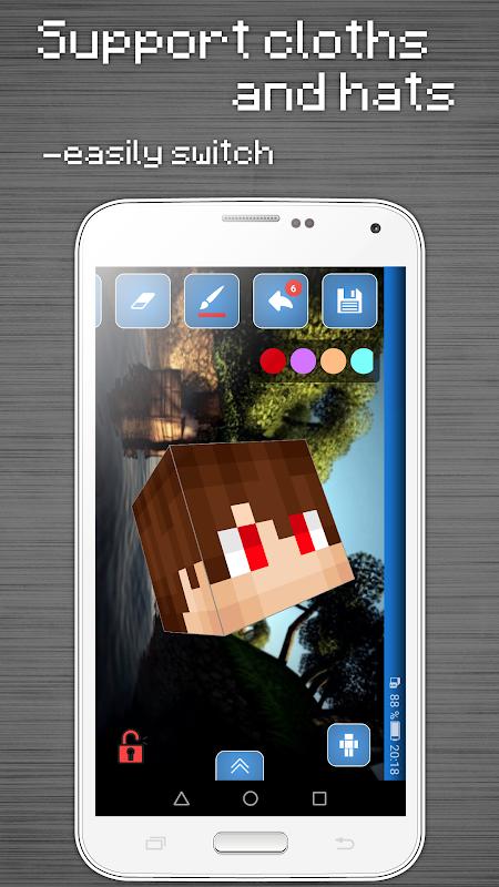 Skins Editor for Minecraft PE (3D) screenshot 5