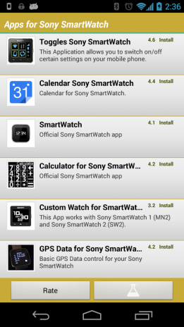 Apps for Sony SmartWatch 1 3 Download APK for Android - Aptoide