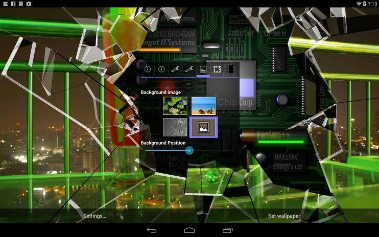 Cracked Screen Gyro 3d Parallax Wallpaper Hd Screenshot 3