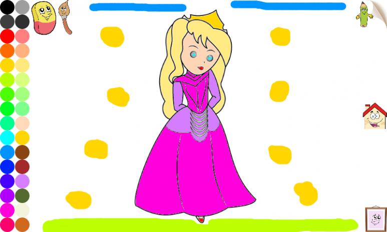 Prenses Boyama Kızlar Oyunlar 103 Android Aptoide Için Apk Indir