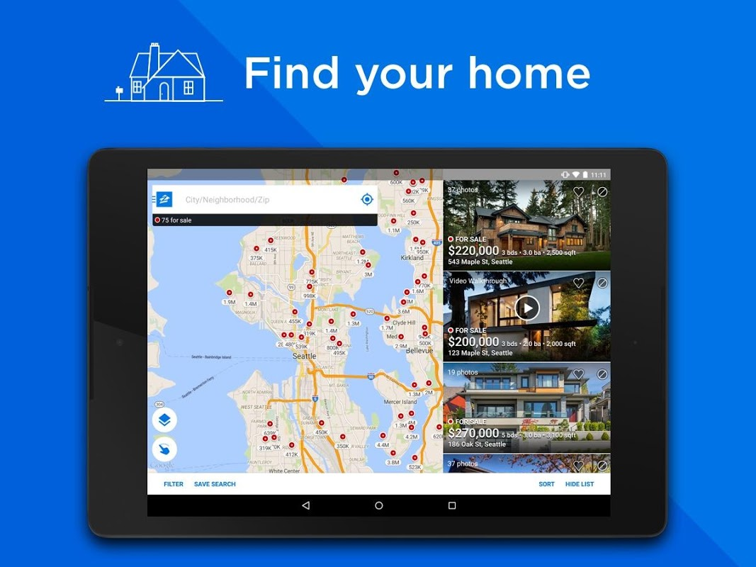 Zillow: Find Houses for Sale & Apartments for Rent screenshot 1