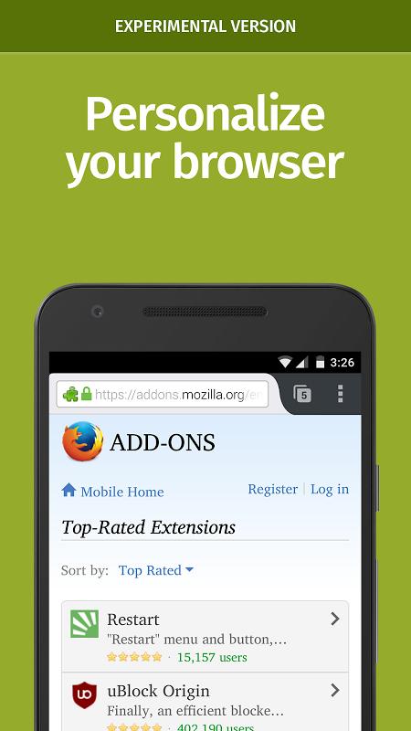 Firefox Nightly screenshot 2
