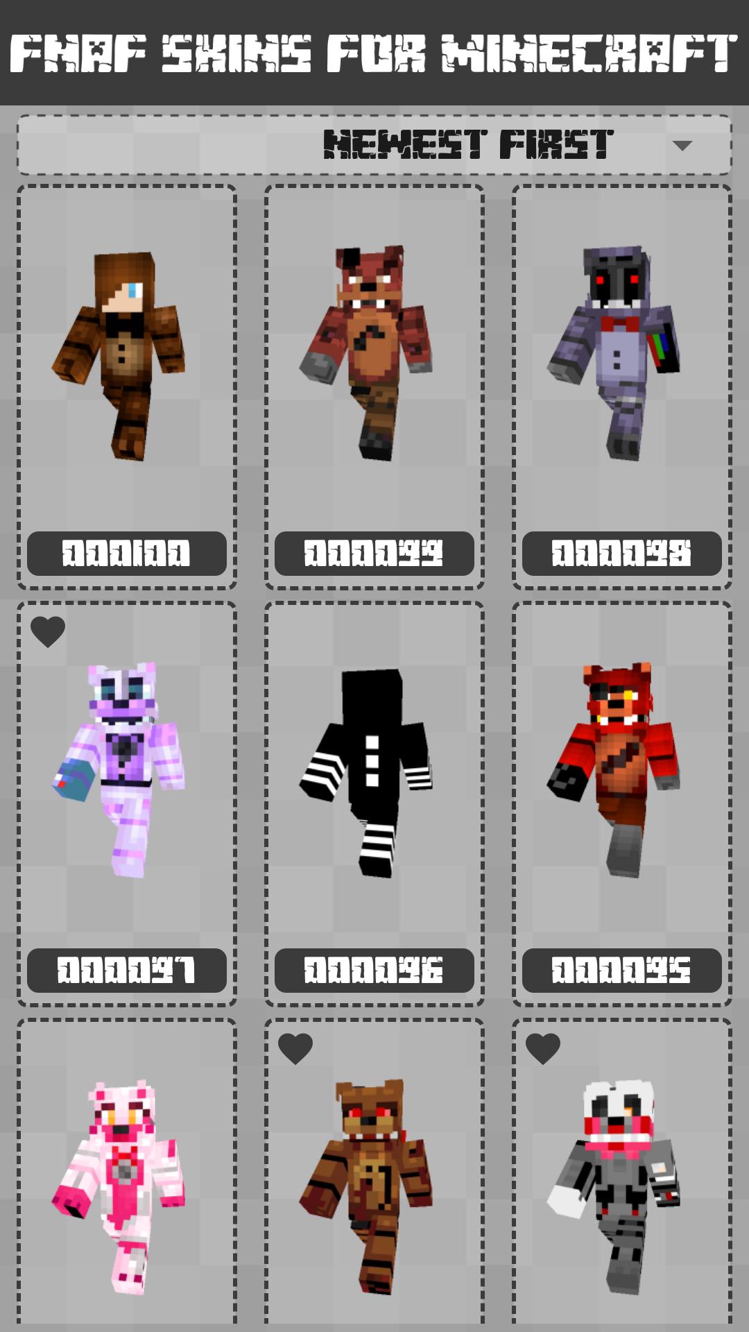 FNAF Skins for Minecraft PE screenshot 1