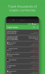 Crypto Tracker - Bitcoin, Ethereum + more tracker screenshot 2