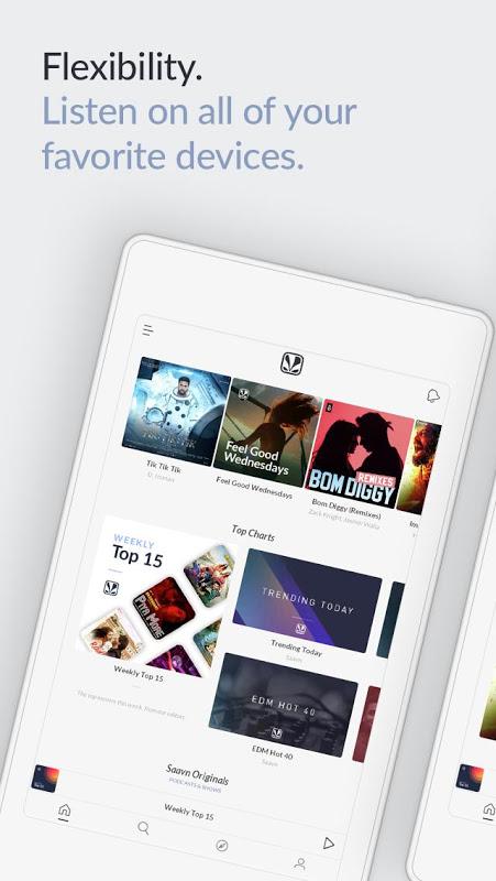 JioSaavn Music & Radio – including JioMusic screenshot 1