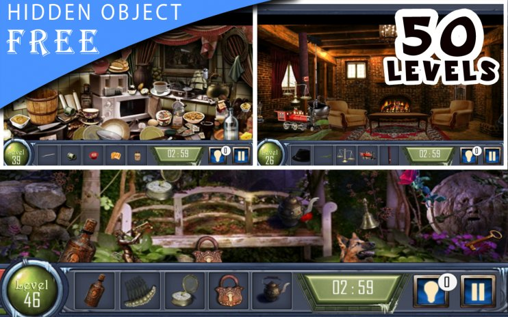 Hidden Object Game : 100 Levels of MidNight Castle 1 0