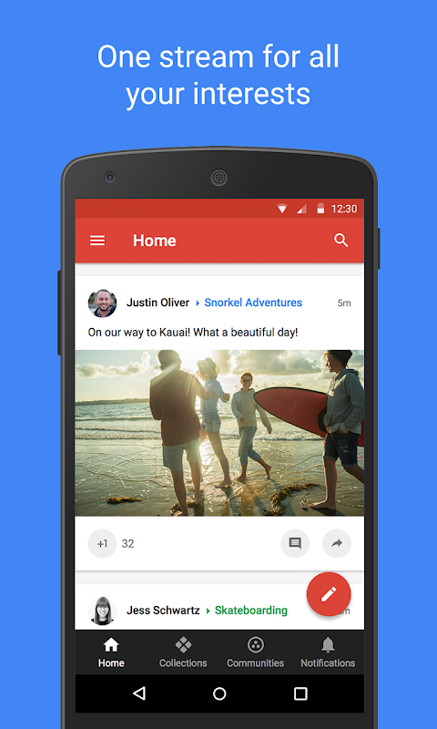 Google+ screenshot 1