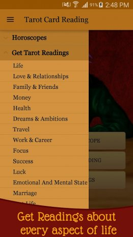 tarot card reading love future daily horoscope screenshot 1 - Love Card Reading