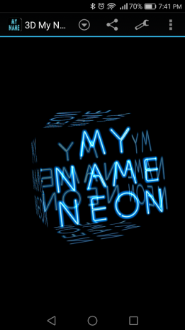 3d My Name Neon Live Wallpaper 1