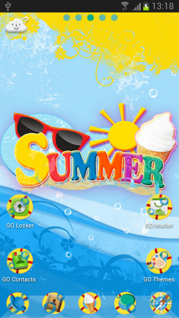 go launcher ex summer theme download apk for android