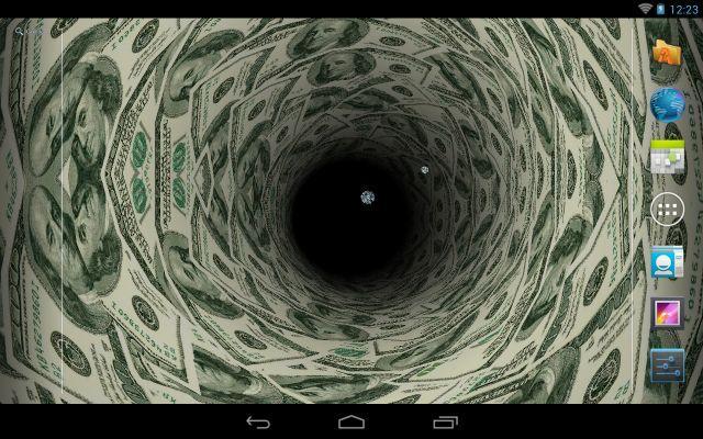 Money Tunnel Live Wallpaper Screenshot 1
