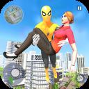 Flying Spider Rope Hero - Gangster Crime City