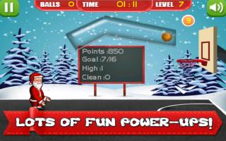 Santa Christmas Basketball Fun Screen