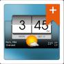 3d flip clock weather pro icon