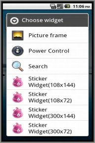 Sticker Widget Ad screenshot 1