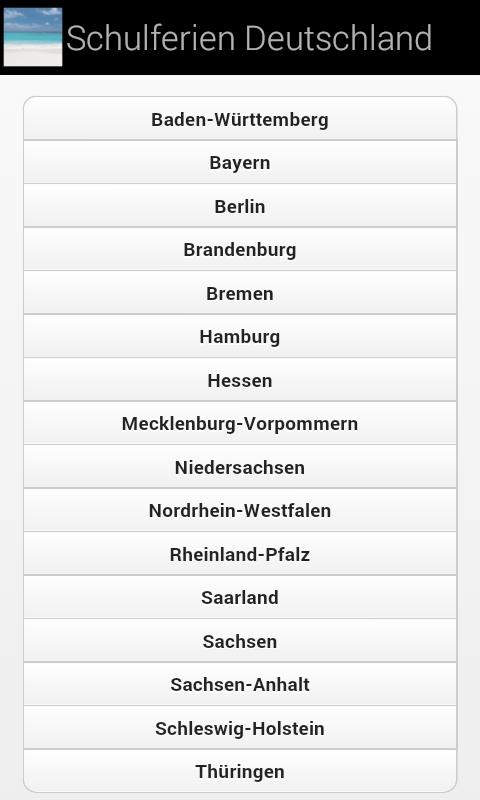school holidays for Germany screenshot 1