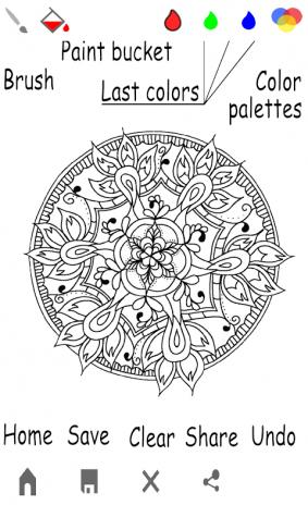Mandala Adults Colouring Book Screenshot 8