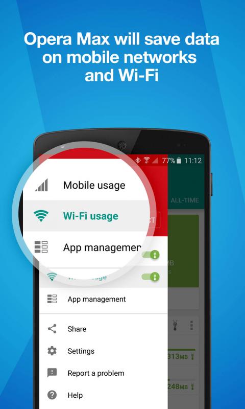 Opera Max - Data saving app screenshot 1