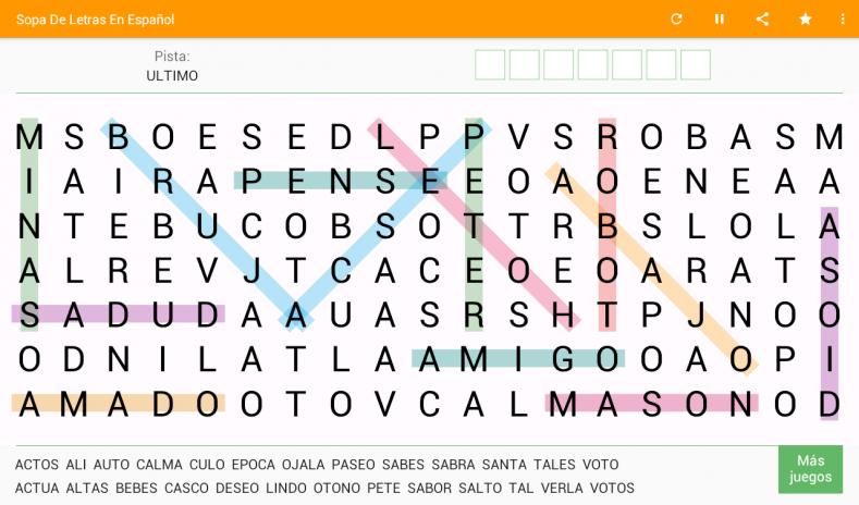 Sopa De Letras Espanol Gratis 5 4 Descargar Apk Para Android Aptoide