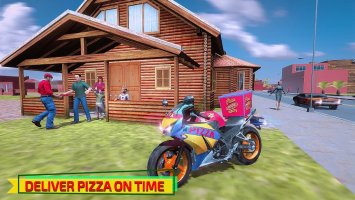 Hot Pizza Delivery Bike Boy Screen