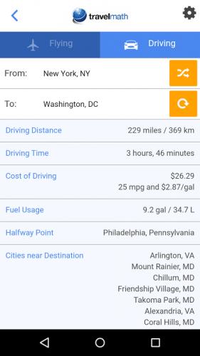 Travelmath Trip Calculator 1 2