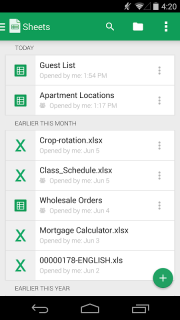 Google Sheets screenshot 4