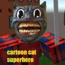 Superhero Cartoon Cat Skin from Shenzhen