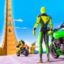 Superhero Bike Stunt GT Racing