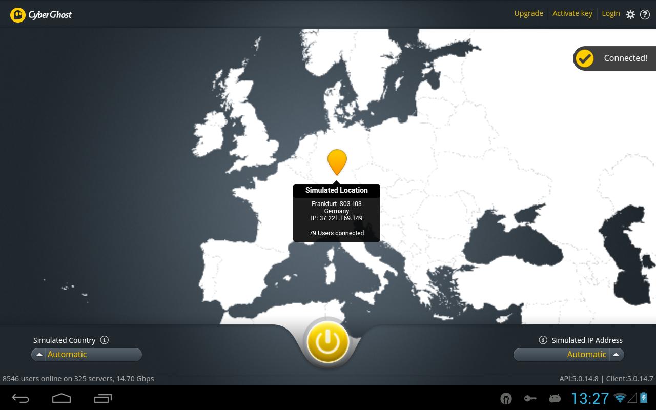 CyberGhost 5.5 screenshot 1