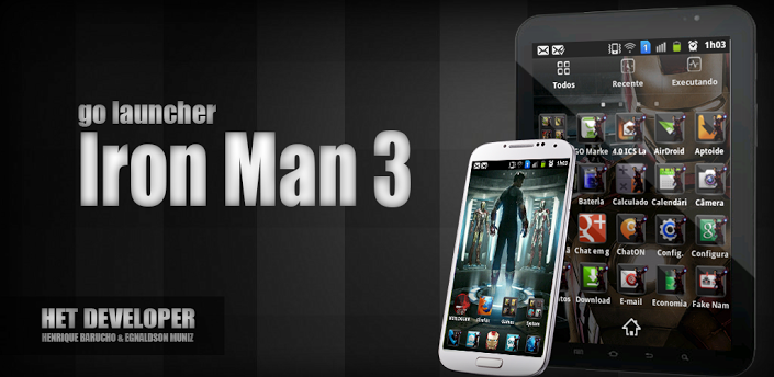 Iron man 3 go launcher v1 0 t l charger l 39 apk pour android - Iron man 2 telecharger ...