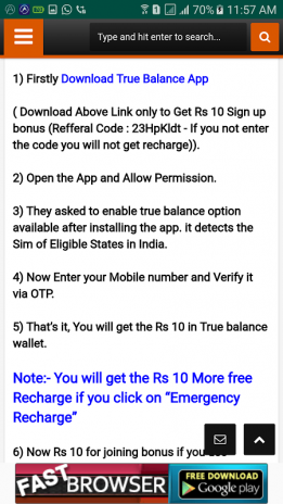 Free Mobile Recharge [Offered By True Balance] 1 0 Download