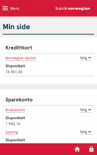 Bank Norwegian screenshot 1